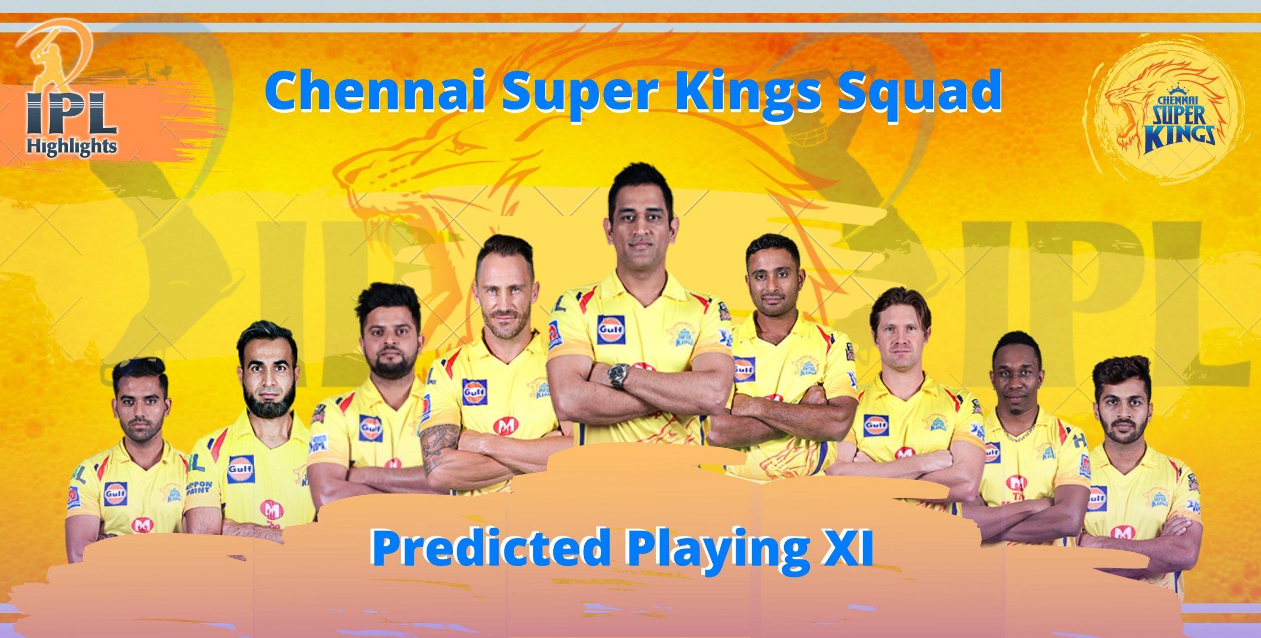 Chennai Super Kings Squad